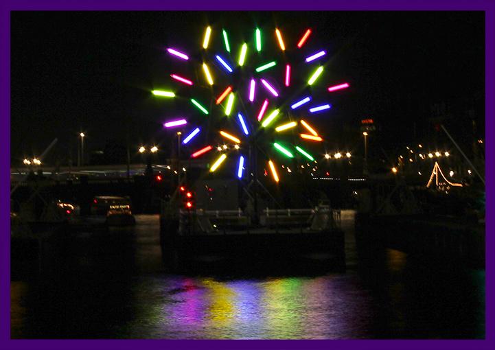 Светодиодное дерево в Амстердаме