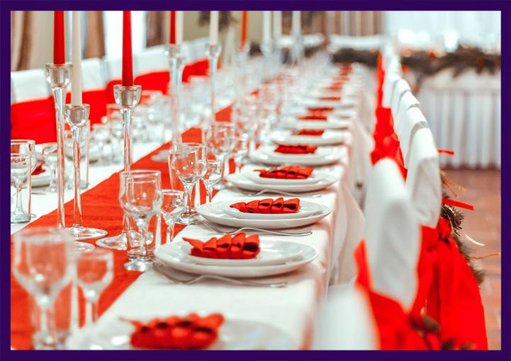 Украшение стола к праздникам
