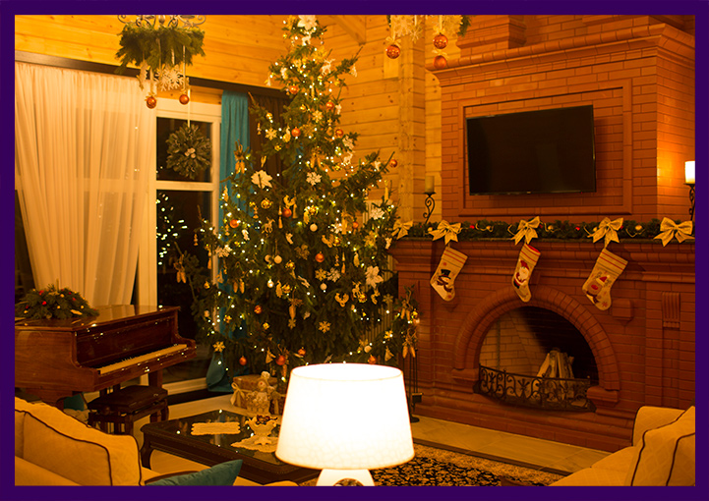 Украшение ёлки, камина и всего интерьера к Новому году