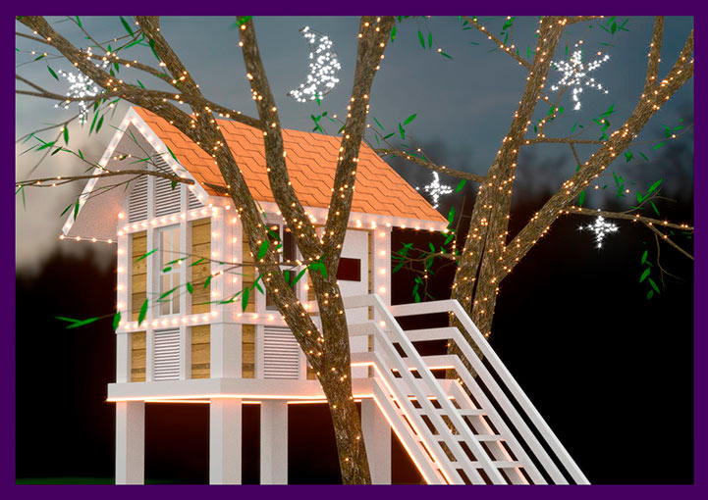 Проект украшения домика на дереве для Ирены Понарошку