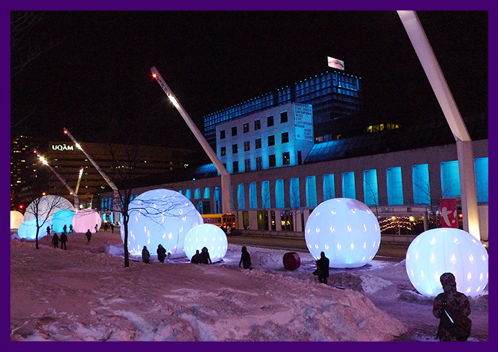 Световые шары на Новый год