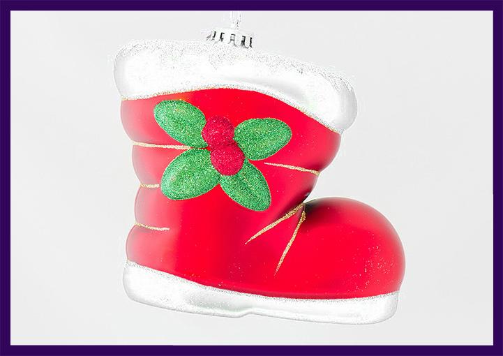 Новогодняя игрушка «Сапог»