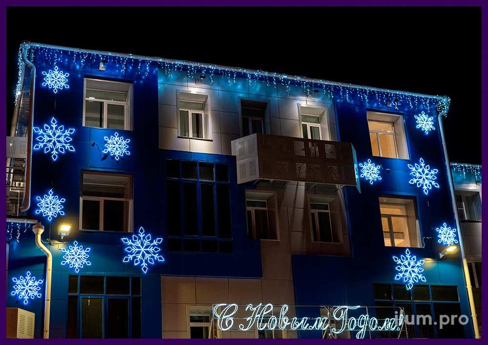 Интерьерный декор новогоднего ТЦ