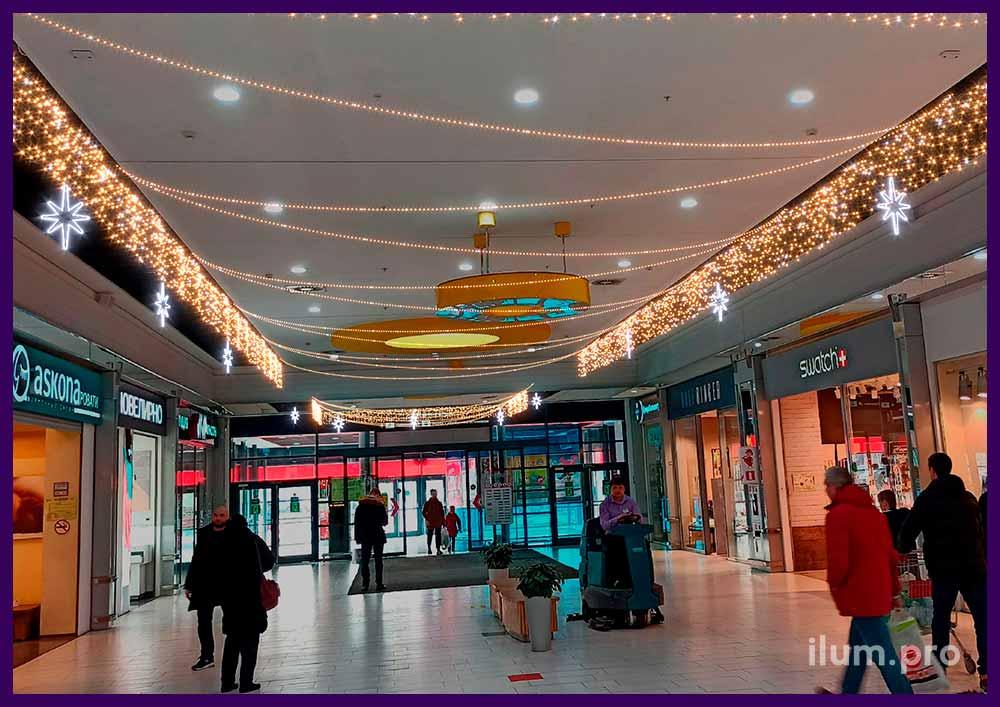 Концепция новогоднего украшения зала