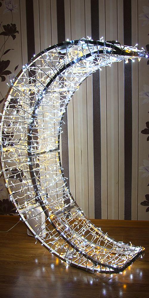 Декоративные фигуры «Месяц извёзды» для украшения катка