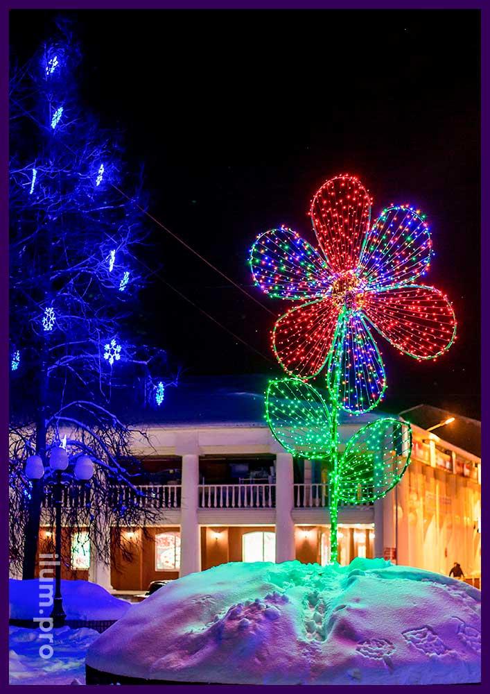 Светодиодная фигура в виде цветка