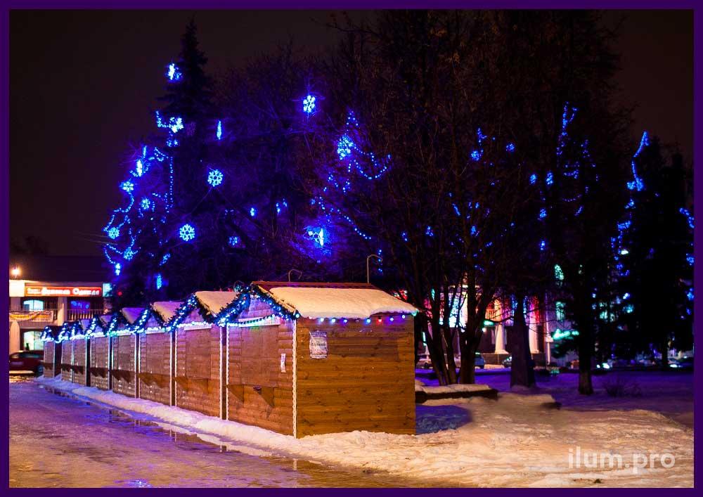 Подсветка деревьев прожекторами