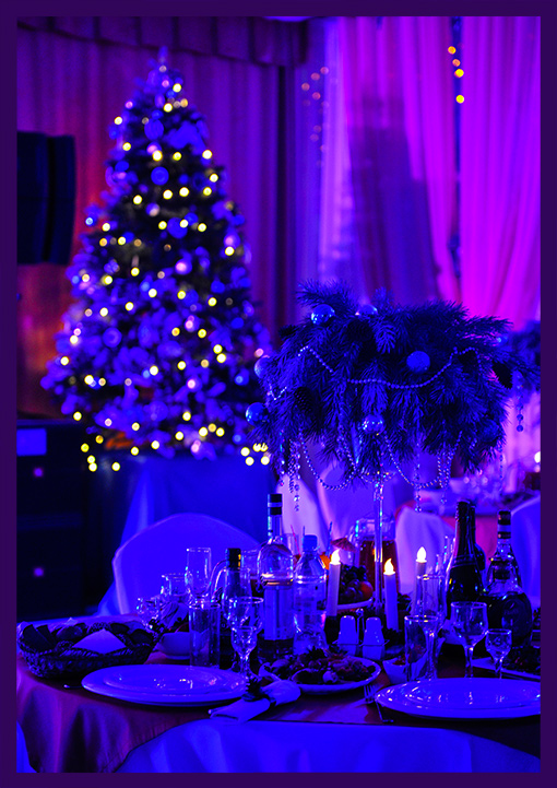 Украшение зала к Новому году