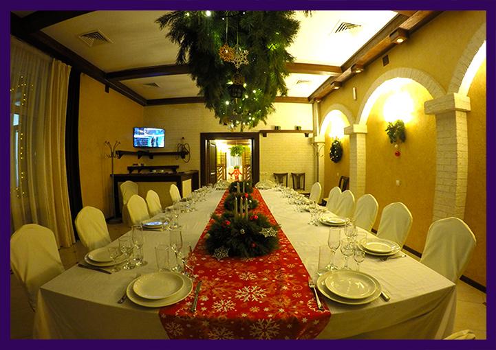 Декорирование стола на Новый год