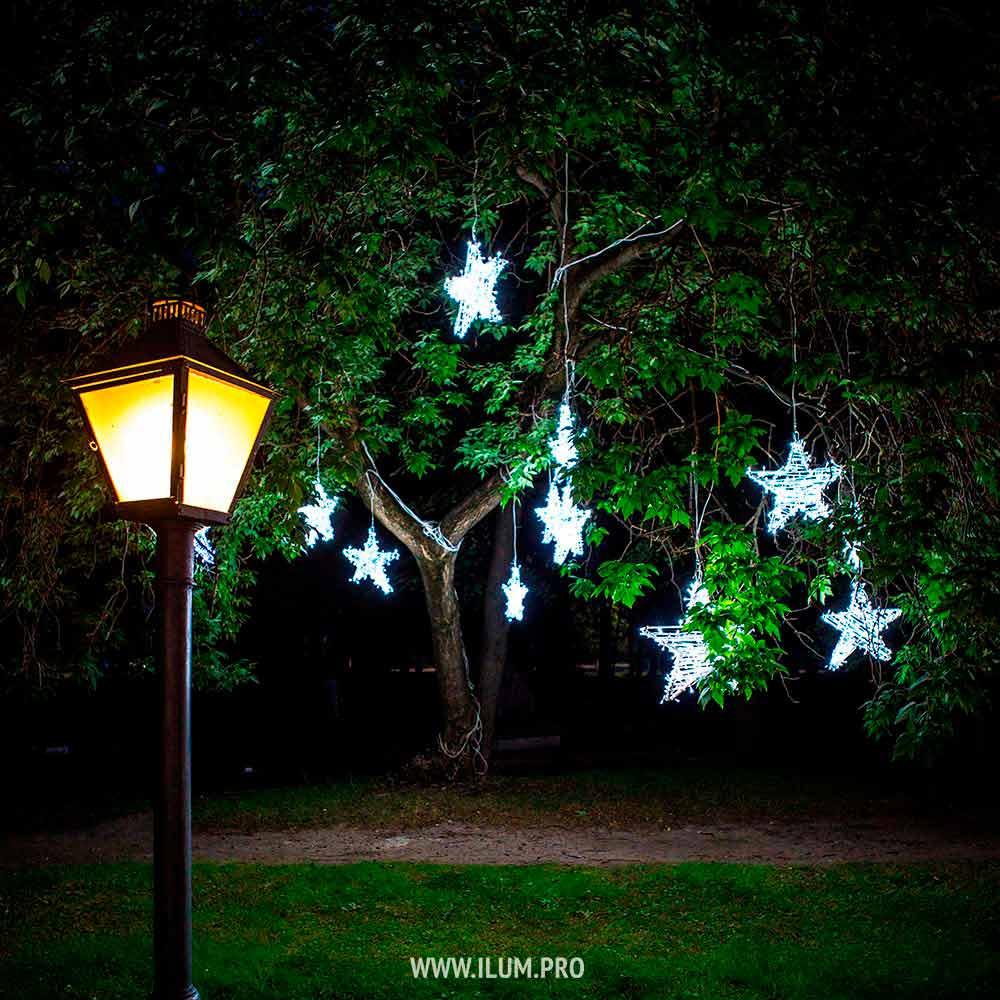 Уличные светодиодные звёзды