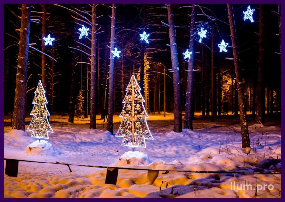 Праздничная иллюминация и украшения на Новый год