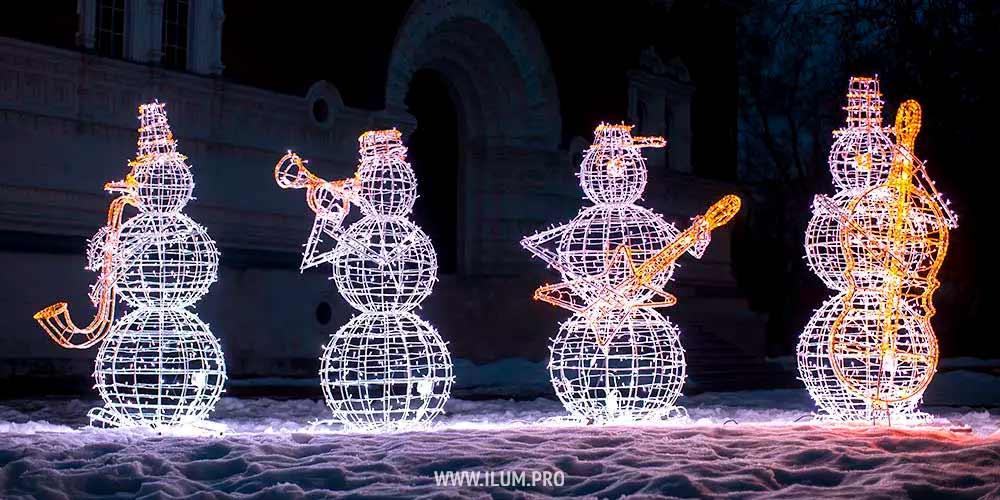 Снеговики музыканты наНовый год