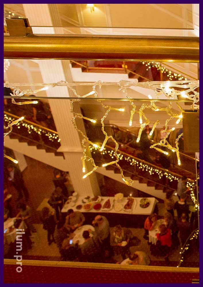 Светодиодные гирлянды для интерьера на Новый год
