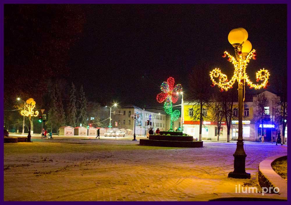Украшения для улицы с светодиодной подсветкой