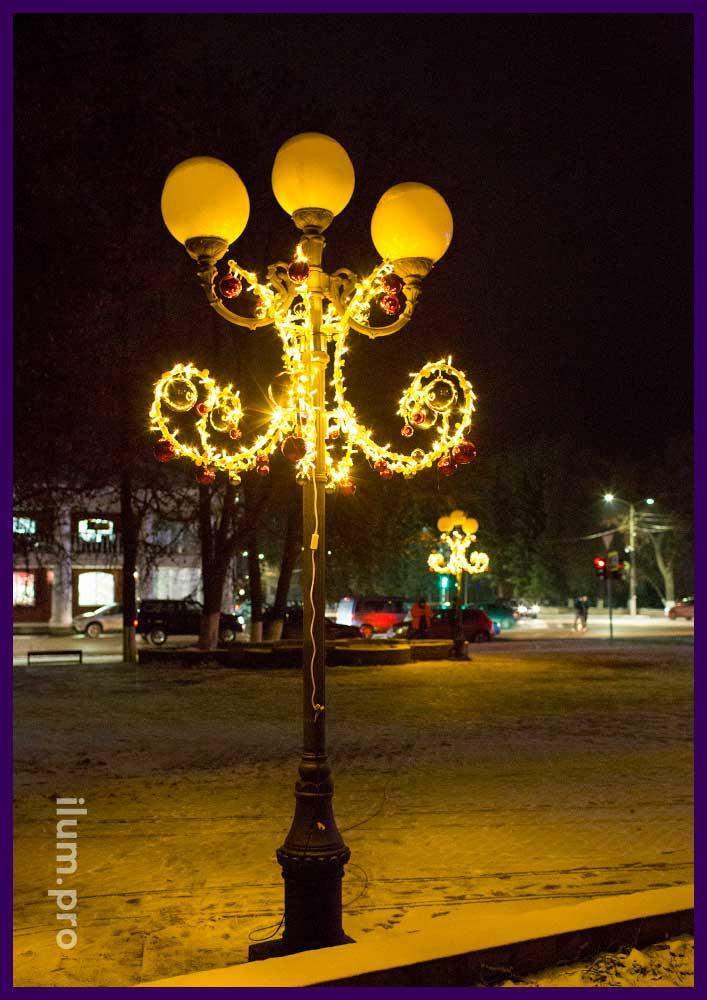 Декоративные консоли с подсветкой