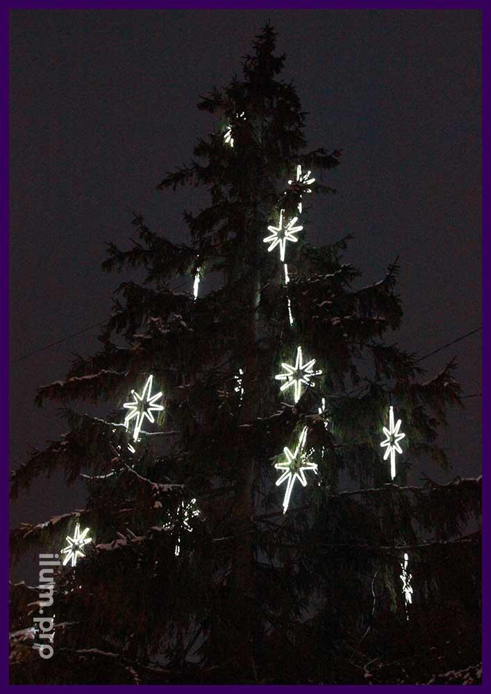 Новогодние украшения для живых ёлок