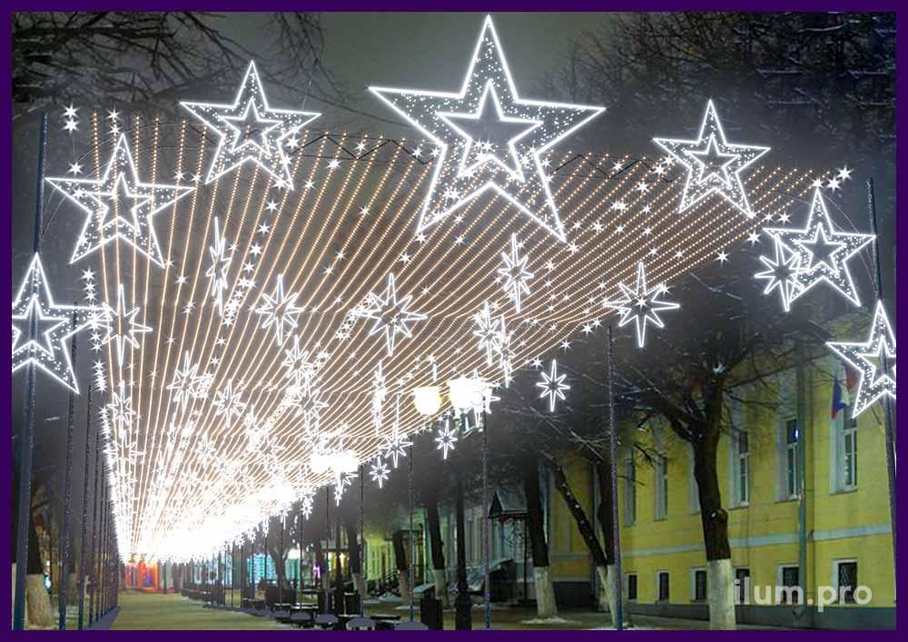 Проект новогоднего оформления улицы Почтовая в Рязани