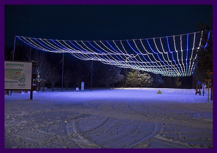 Звёздное небо в Доброграде на Новый год