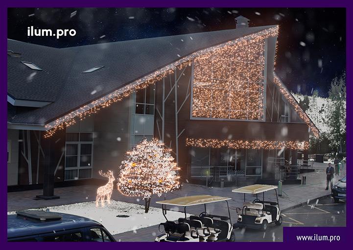 Светодиодная иллюминация для фасада здания