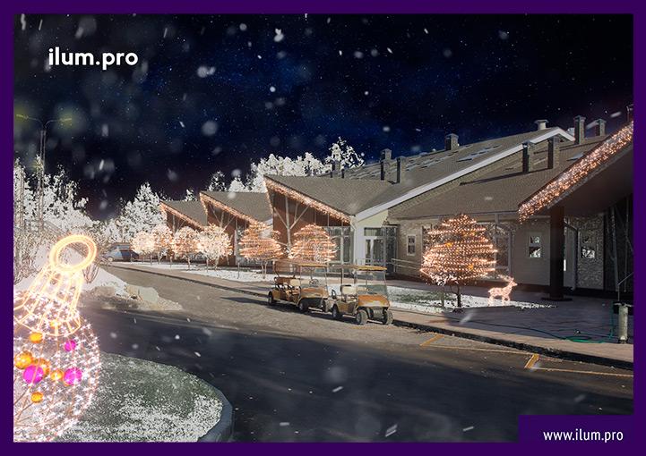 Новогодняя иллюминация в Доброграде
