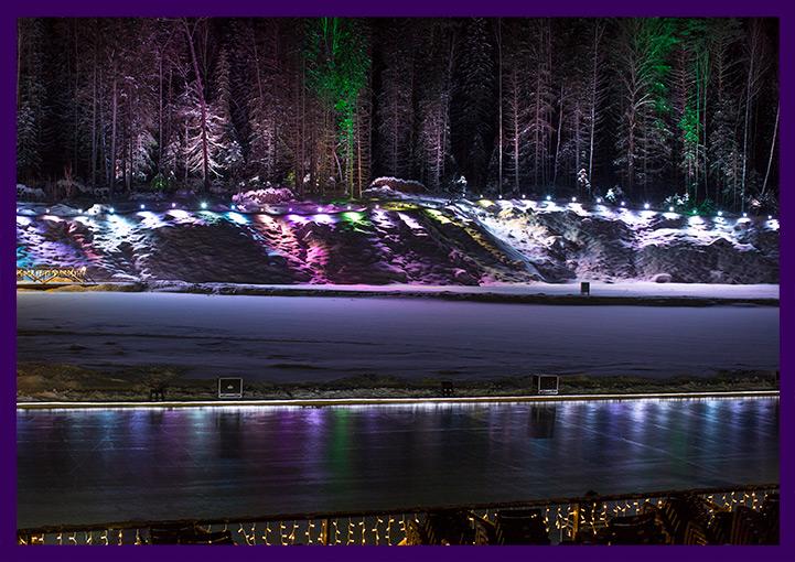 Светодиодная иллюминация на Новый год в Доброграде