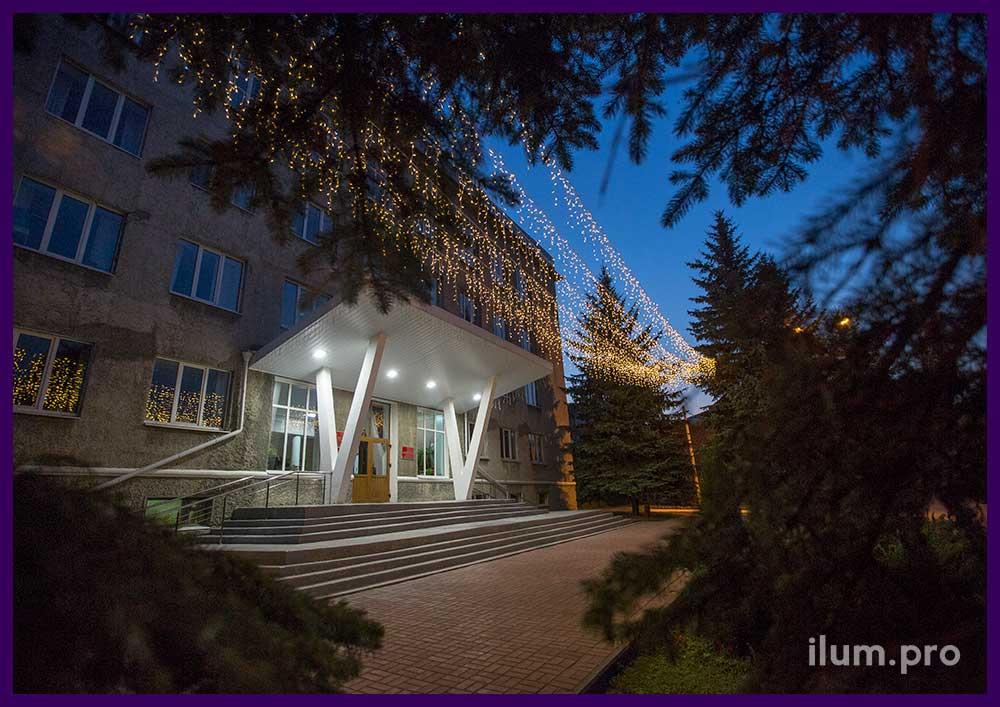 Уличные светодиодные гирлянды с мерцанием в Павлово