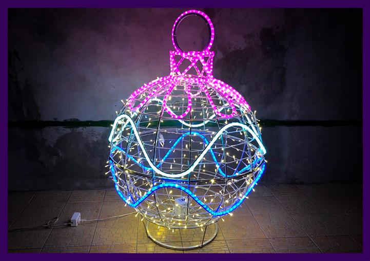 """Шар """"Ёлочная игрушка"""", световая фигура с гирляндами"""