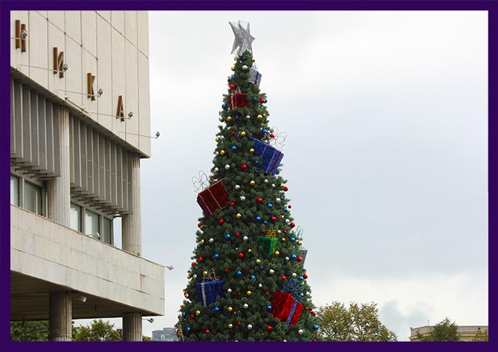 Каркасная ёлка с подарками и игрушками в Москве