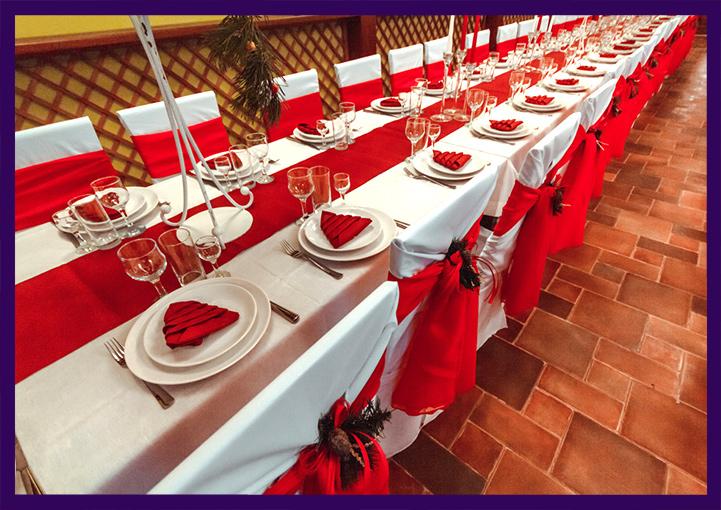 Украшение ресторана на Новый год в Подмосковье
