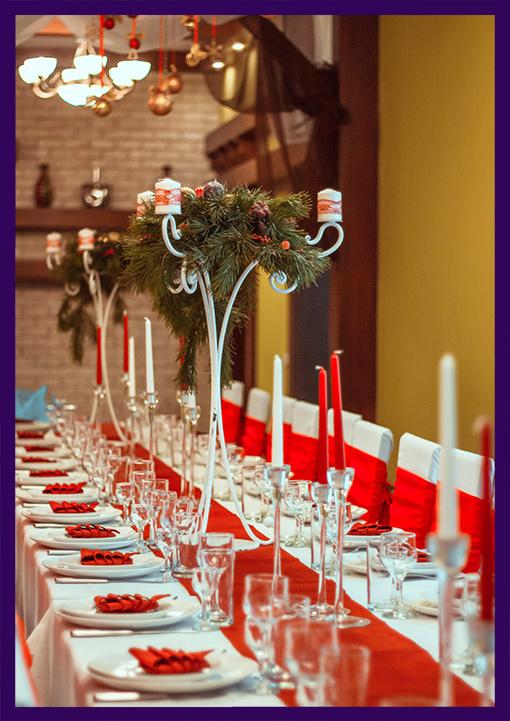 Хвойные композиции для новогоднего стола