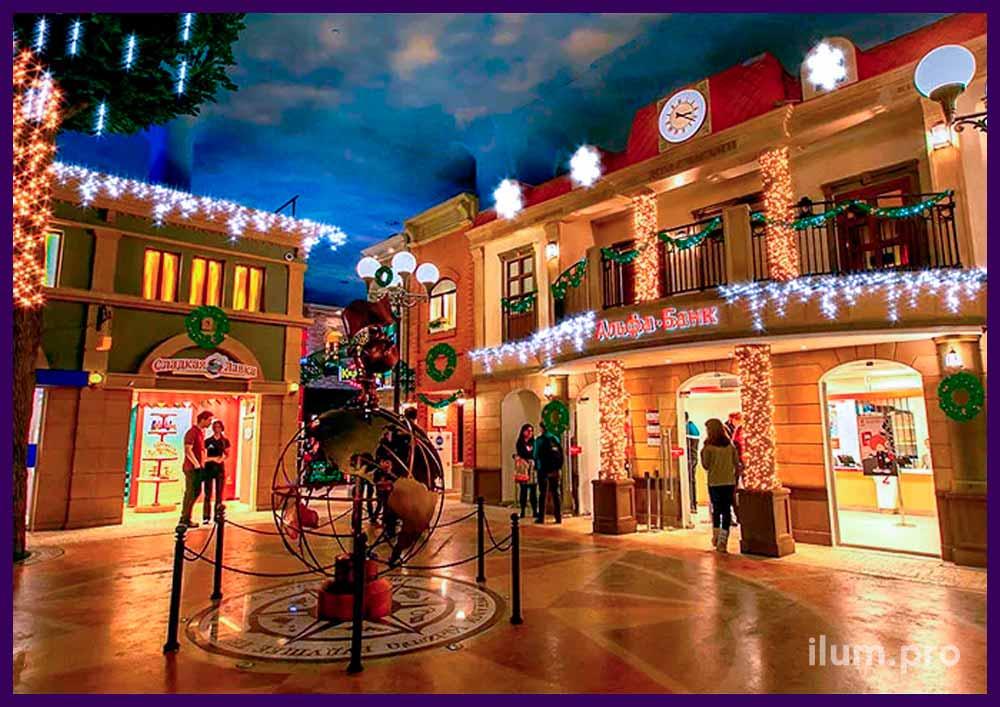 Проект новогоднего украшения Кидзании светодиодными гирляндами
