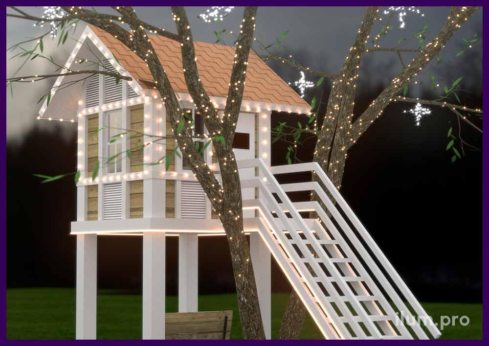 Проект подсветки домика на дереве для Ирены Понарошку