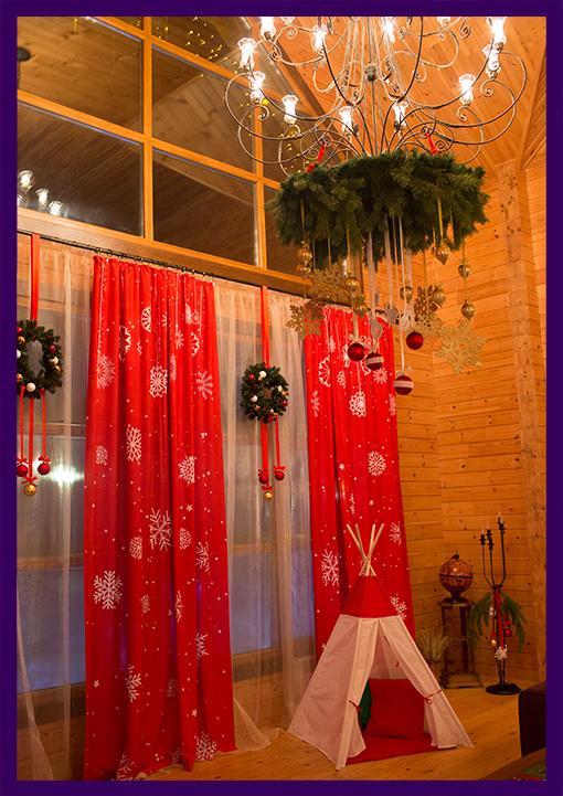 Украшение интерьера на новогодние праздники. Фотозона на праздник.