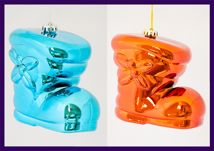 Глянцевые ёлочные игрушки