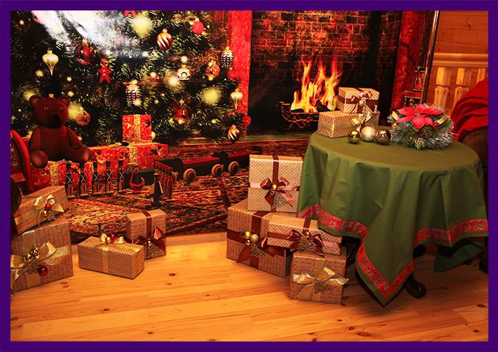 Хвойные декорации для интерьера частного дома на Новый год