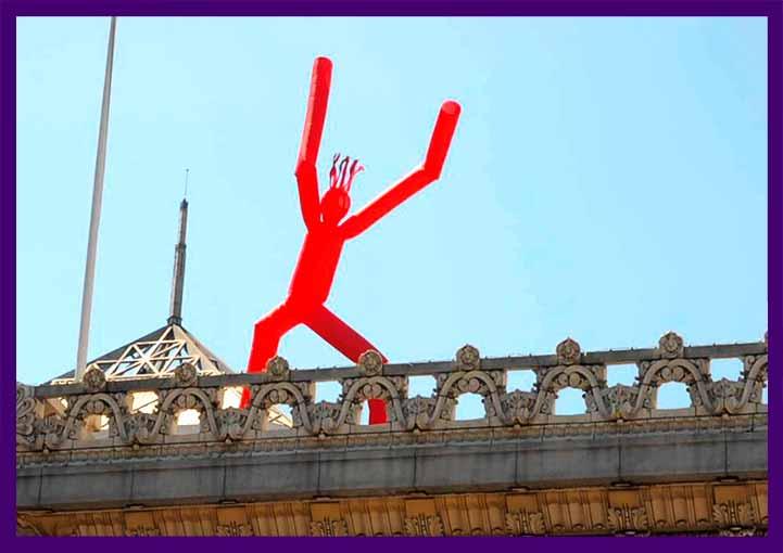 Танцующая надувная фигура - человек