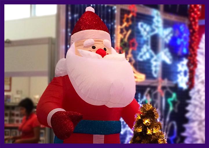 Дед Мороз надувной для украшения улицы на Новый год