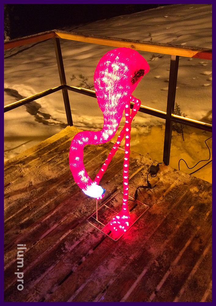 Акриловый фламинго со светодиодной подсветкой
