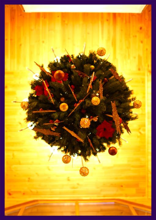 Рождественские венки для интерьера коттеджа