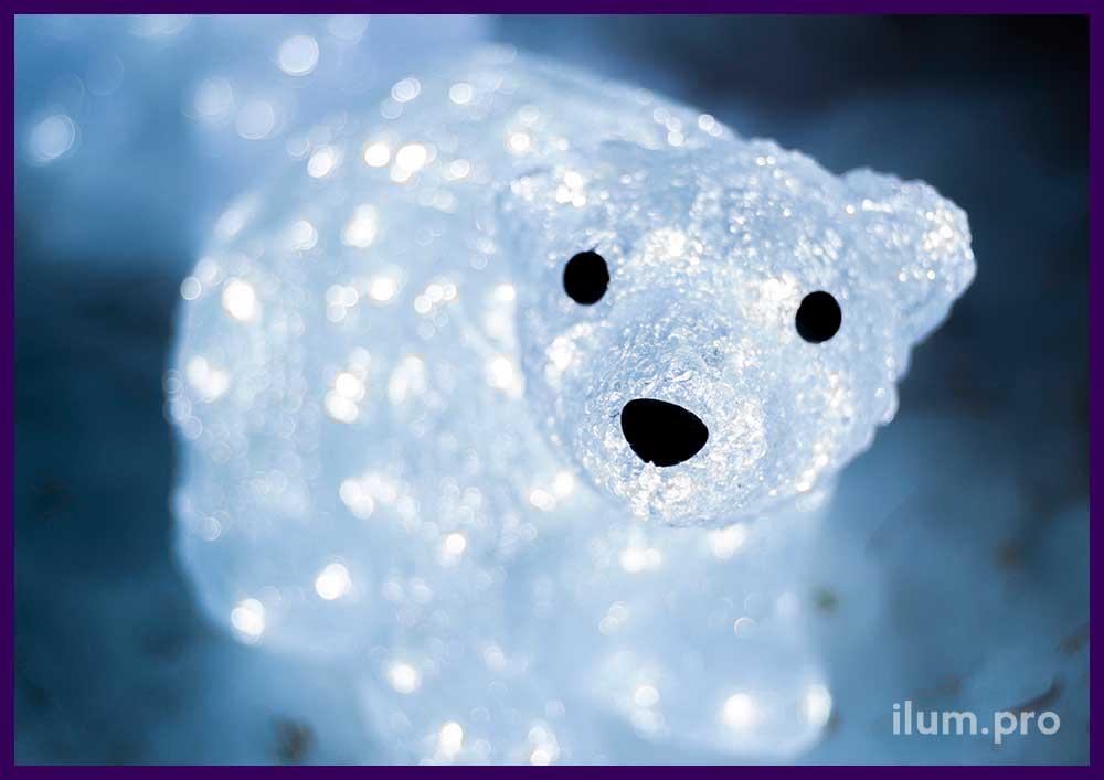 Светящийся акриловый медведь для сада