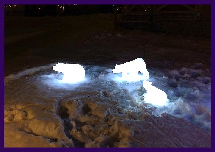 Уличные светящиеся медведи из акрила