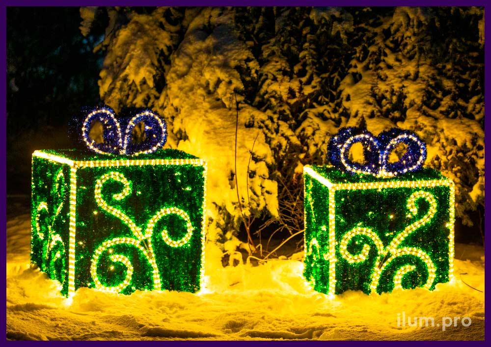 Световые фигуры для оформления улицы на Новый год