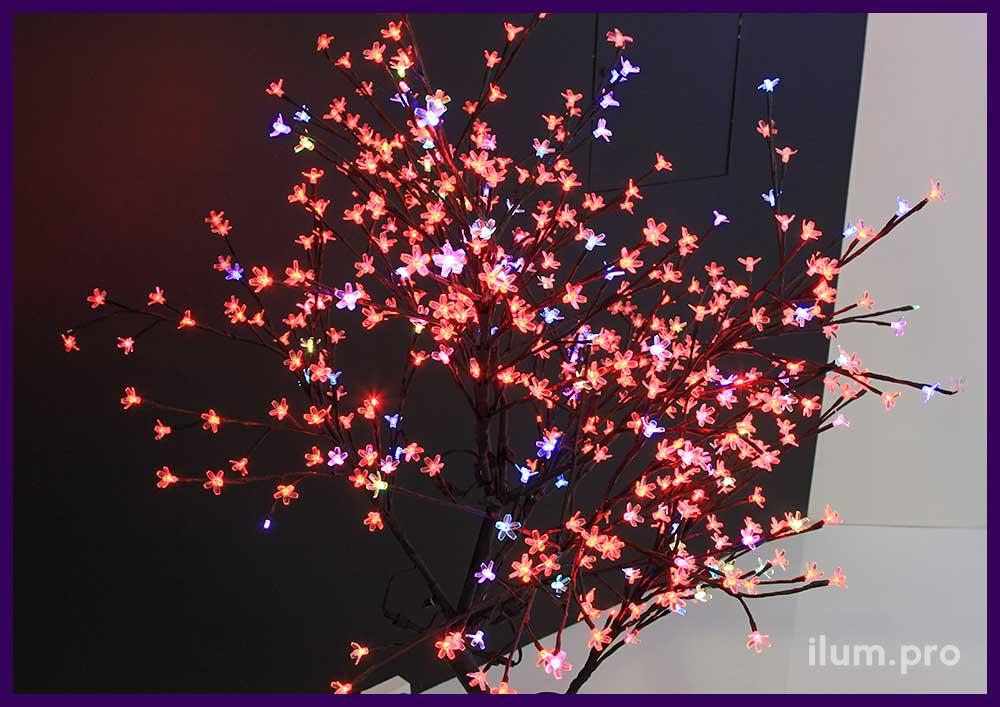 """Светодиодное дерево RGB """"Сакура"""" для помещения и улицы"""