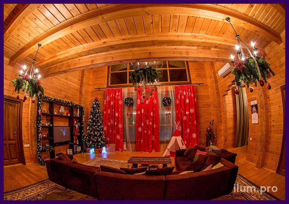 Украшение интерьера частного дома к новому году