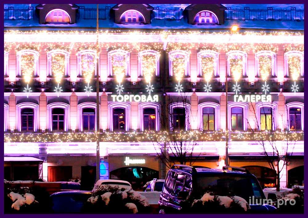 Проект светодиодного украшения ресторана в Сочи