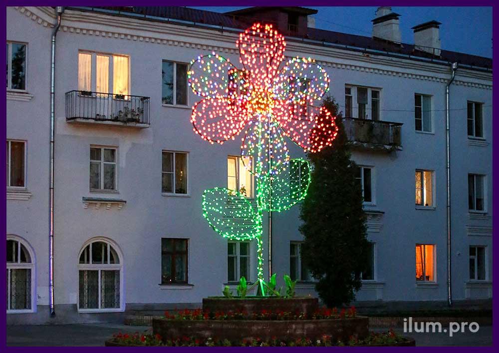Светящийся цветок высотой более 4 метров