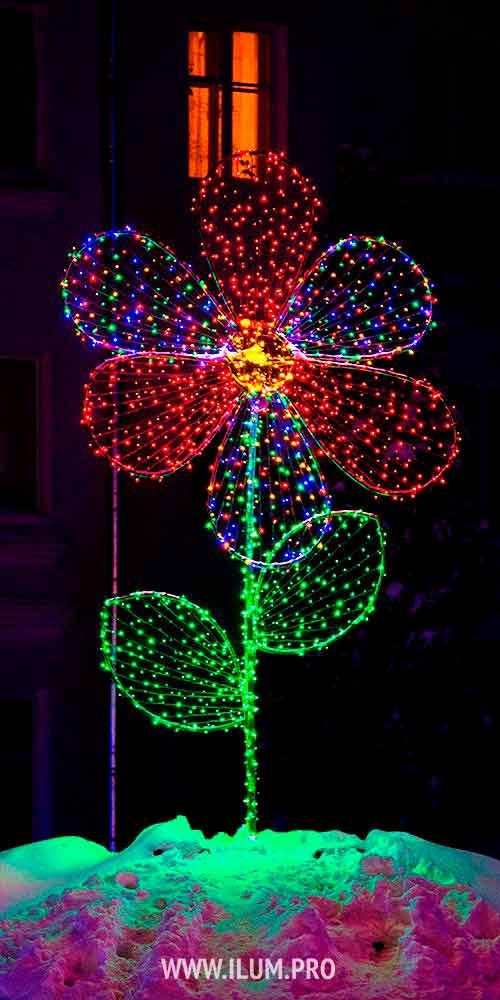 Световая фигура «Цветок» для украшения города