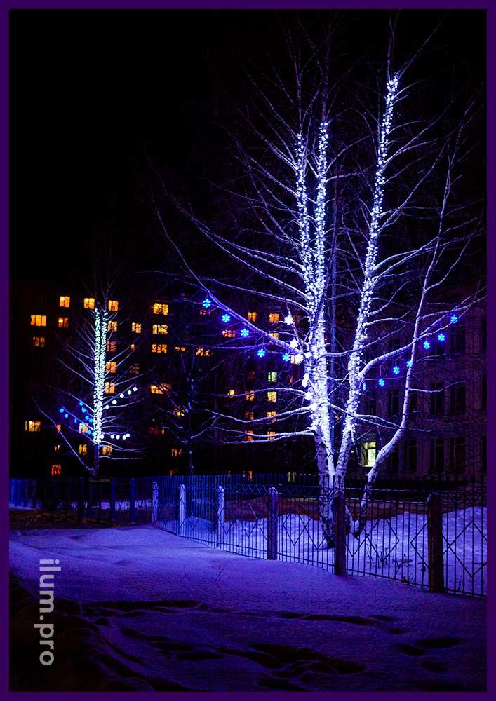 Светодиодная иллюминация для деревьев во Владимирской области