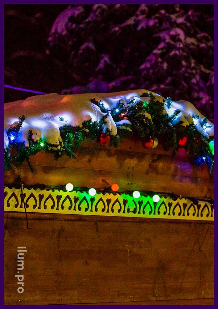 Красные прожекторы для деревьев