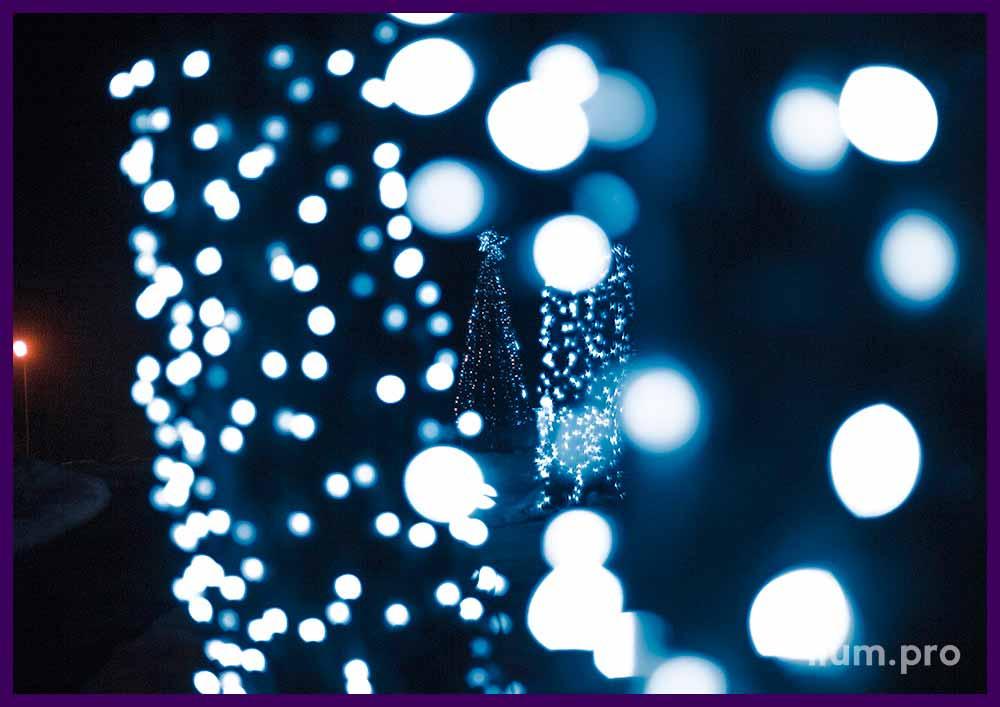 Профессиональные светодиодные гирлянды для украшения деревьев
